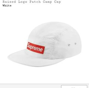 Supreme raised logo patch camp cap hat